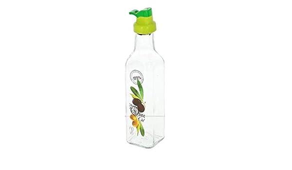 ColorBaby Aceitera Botella Cristal Decorada 250ml con Tapon ...