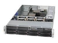 SUPERMICRO COMPUTER Supermicro Computer Cse-825Tq-R740wb Server Chassis - Rack-Mountable - Power Supply - 740 Watt
