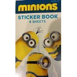 Minions Sticker Book 4 Sheets (Minion Stickers)