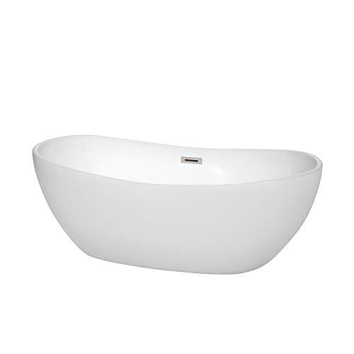 - Wyndham Collection WCOBT101465BNTRIM Rebecca Freestanding Bathtub, 65