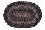 Cheap IHF Country Jute Braided Oval Area/Accent Rug Ebony 22″X72″
