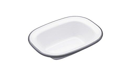 Kitchencraft Living Nostalgia Small Oblong Enamel Pie Dish, 16 x 12cm (6.5 inch x