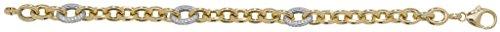 Bracelet-Femme-Argent 925/1000oxyde de zirconium plaqué or jaune