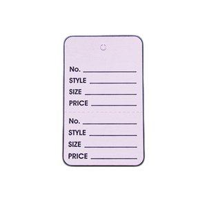 American # 52109L, 1 3/4'' Lavendar, UnStrung Apparel Colored Tags, Apparel Tags Colored with Perforation (1000 per Box) by American Store Supply