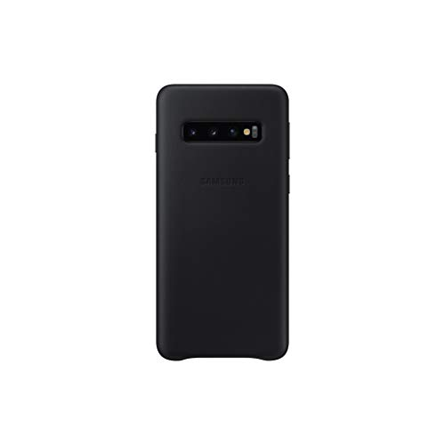 Samsung Official Original Galaxy S10 Series Genuine Leather Cover Case (Black, Galaxy S10)