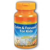Calm and Focused For Kids Grape, 30 Chewables by Thompson (Pack of 3)