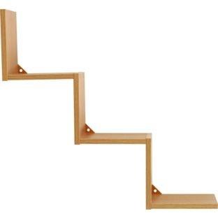 High Quality Step Shelves - Oak Finish.