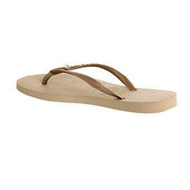 Havaianas Slim Crystal Glamour, Chanclas unisex para Adultos Gold Rubber