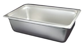 New Buffet Full-Size Steam Table Pan, Food Pan, 6-Inch Deep, Anti-Jam Edges, 23 Gauge Thickness, NSF Listed - Edge Steam Table Pan