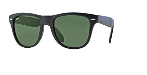 Ray-Ban RB4105 FOLDING WAYFARER 601S 54M Matte Black/Green Crystal Sunglasses For Men For Women