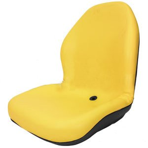 Heavy Duty High Back Seat for John Deere Lawn & Garden Mower, UTV, Tractor, Skid Steer Loader, Backhoe Excavator Vinyl ()