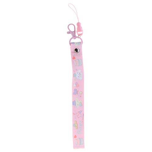 Prettyia Charming Cell Phone Wrist Lanyard Short Keychain Rope Cute Camera Lock Strap 26cm - Pink
