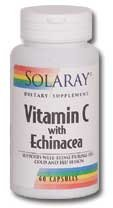 (Solaray Vitamin C with Echinacea -- 1000 mg - 60 Vegetarian Capsules)