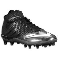 Nike Men's Lunar Super Bad Pro TD Football Cleats (Size 12.5, Black/Metallic Silver-Tornado)