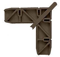 """CRL Andersen 1"""" x 15/32"""" Bronze Plastic Screen Door Frame Corner - 20 pack"""
