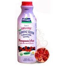 Lifeway Organic Probiotic Low Fat Pomegranate Acai Kefir, 32 Ounce - 6 per case.