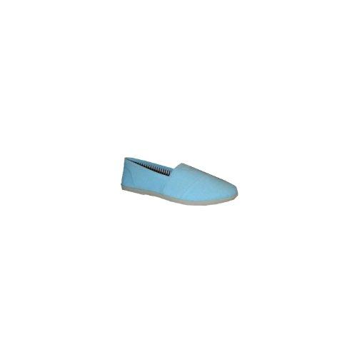 Soda Women Object Flats-Shoes Blaues Leinen