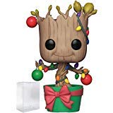 Funko Pop! Marvel: Guardians of The Galaxy - Holiday Dancing Groot with Lights & Ornaments Vinyl Figure (Includes Pop Box Protector Case)