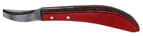 ProRider USA Horse Farrier Tool SS Wood Handle Equine Grooming Loop Oval Hoof Knife 98485