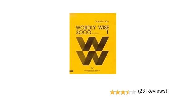 Wordly wise 3000 book 1 teachers key kenneth hodkinson sandra wordly wise 3000 book 1 teachers key kenneth hodkinson sandra adams 9780838824412 amazon books fandeluxe Gallery