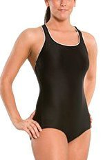 Speedo Aquatic Xtra Life Lycra Plus Size Conservative Ultraback Swimsuit, Black, 20