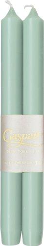 Caspari - 10-Inch Taper, Dripless, Smokeless, Candlesticks, Turquoise, Set of - Mint Candlesticks