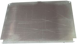 Hoffman A6P6AL Conductive Panels for JIC Enclosure, Steel/Aluminum, J Box/4.88'' x 4.88'', Fits 6'' x 6'' by Hoffman (Image #1)