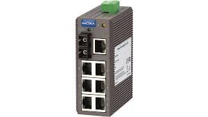MOXA EDS-208-M-SC - 8 Ports Entry-level Unmanaged Ethernet Switch with 7 10/100BaseT(X) Ports, and 1 100BaseFX Multi-mode Port with SC Connector, Plastic Housing, -10 to 60°C Operating Temperature