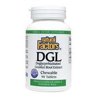 Natural Factors DGL Licorice Root 90 Chew Tab (3 Pack)