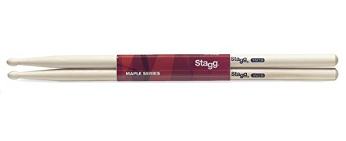 Stagg SM2B Maple 2B Grip Drumsticks with Wood Tip