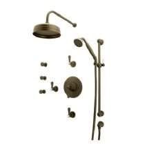 Rohl U.KIT67LS-EB **KIT** PERRIN & ROWE GEORGIAN ERA SHOWER PACKAGE IN ENGLISH BRONZE WITH LEVER HANDLES INCLUDES U.5785LS/TO U.5384 U.5205 U.3774LSP/TO U.5570 P&RG KIT67 SHWR L-H E.BZ