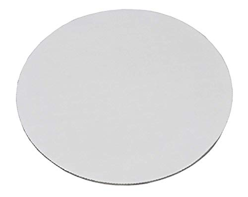 6 inch Grease Proof White Cake Circle - Round Board Corrugated Paper Cardboard Cake Base; Add an extra touch of elegance (Made in USA - Pack of 25) ()