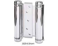 - Bommer 3029-4-652 4in Double Acting Spring Hinge-Mortise Type-Steel Base-Satin Chrome Plated