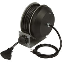 Strongway Retractable Cord Reel - 30-Ft., 12/3, Triple Tap