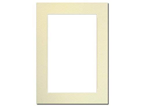 PA Framing, Photo Mat Board, 5 x 7 inches Frame for 4 x 6 inches Photo Art Size - Cream Core/Ivory