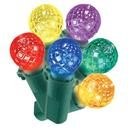 Philips 60ct Multicolored LED Faceted Sphere String Lights (Faceted Sphere)