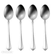 Oneida Stainless Steel Spoon - Stainless Steel Julliard Teaspoon [Set of 4]