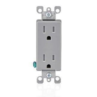 Leviton Outlet 15 Amp Nema 5-15 R Gray