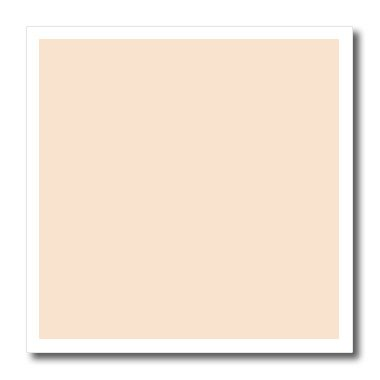 3dRose Light Peach - Nude Flesh Color - pastel Orange - Plain Simple One single Solid Color - Iron on Heat Transfer, 8 by 8-Inch, For White Material (ht_159866_1)