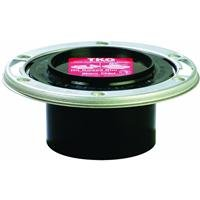 Genova Products 85146 ABS-DWV Closet Flange with Adjustable Metal Ring, 4'' x 3''