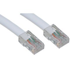 100 ft QualConnectTM Cat6 White Ethernet Patch Cable Bootless