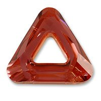 Swarovski Cosmic Triangle 4737 20mm Crystal Red Magma (Package of 1)