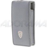 Lamborghini Deluxe Fitted Leather Case for the Ipod Nano, Gray. - Leather Deluxe Ipod Case
