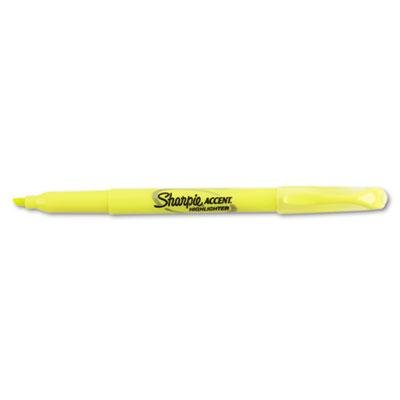 Sharpie Accent Pocket Style Highlighter, Chisel Tip, Fluorescent Yellow, 1 12/Pack, Case of 2 Packs by Sharpie (Image #2)