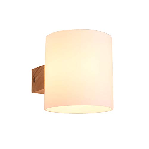 Modern Bedside Wall lamp, E26 Base Hardwired Wall Sconce Glass Wall lamp Northern Europe Wall Light Bedroom Living Room Restaurant Hallway-1 Light 16x13cm