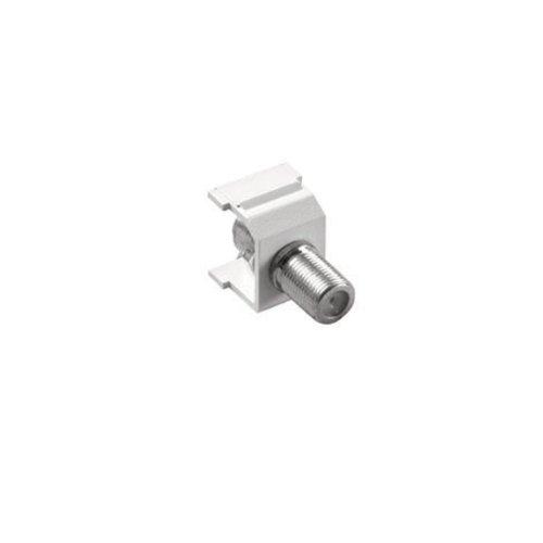 Lutron CON-1C-WH Claro F-Style Cable Jack, White