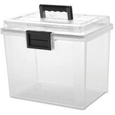 IRIS USA, Inc. UCB-HFB Letter Size Portable WEATHERTIGHT File Box, 19 Quart, Clear by IRIS USA, Inc.