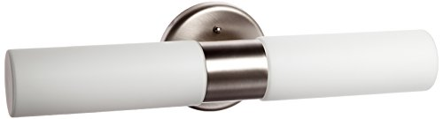 Cobalt  - 2-Light Wall Sconce - Brushed Steel Finish - Opal Glass Shade ()