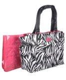 Carter's Zebra Diaper Tote - Pink