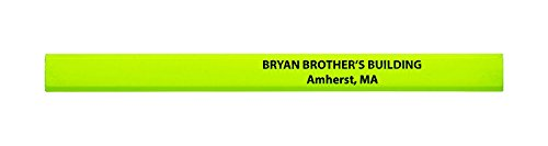 (Pencil Guy Personalized Imprinted Neon Carpenter Pencils -500 per Box Neon)